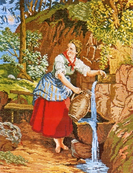 Girl at the well