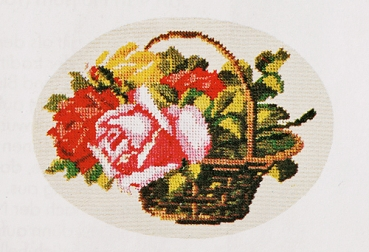Basket of Brightly Coloured Roses