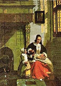Woman peeling Apples