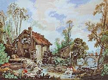 Watermill -  Petit Point
