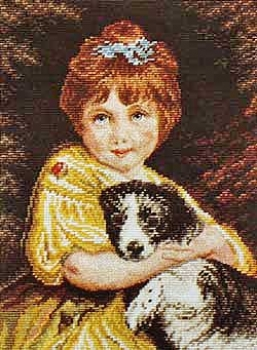 Child with Dog - Miniature