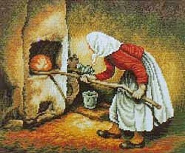 Woman Baker - Miniature