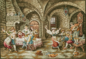 At the Inn (without embroidered decorative frame)