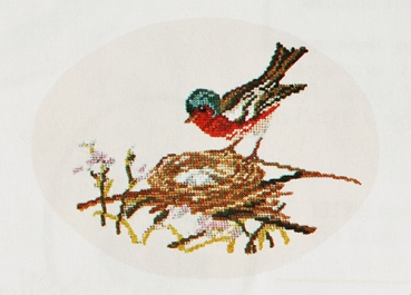 Chaffinch - background not embroidered