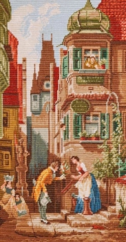 On the Doorstep - Petit-Point