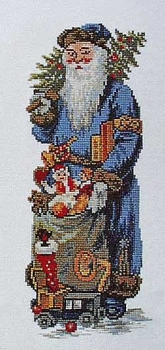 Blue Father Christmas