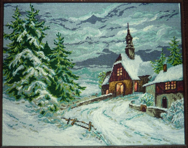 Woodland Chapel in the Snow - Miniature